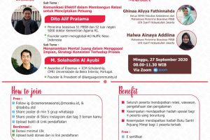 """Webinar CSSMoRA """"Be a great young moslem : Bring your life to a better future"""""""